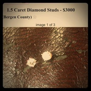 1.5 Caret 14k Diamond Screw-back Studs
